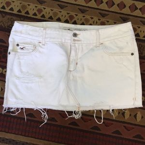 Hollister sz7 Jean  white skirt